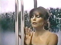 Kay Parker shows her huge natural titties under the shower,