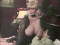 This vintage scene shows off Candy Samples big round ass and incredible tits,