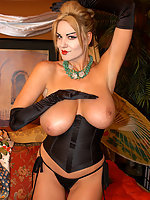 Kelly Madison hot busty diva in black looking hot
