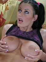 Karma Rosenberg with big boobs fucked on sofa