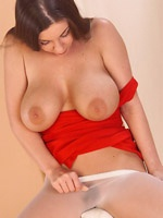 Penny Lynn in nylons exposes her huge melons