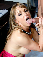 Shayla Laveaux horny milf sit her pussy down on a huge meat