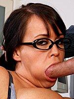 Busty secretary Brandy Talore on a penis in office