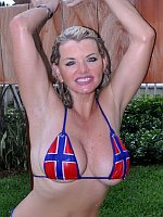 Busty Norway Babe Vicky Vette Shows Off Her Boobs