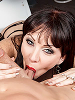 Raveness sexy MILF gets her fur pie sliced by a sharp shlong